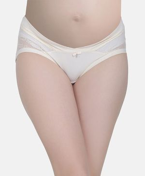 MAMMA PRESTO Low Rise Maternity Panty - Cream
