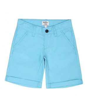 Pepe Jeans Solid Color Shorts - Blue