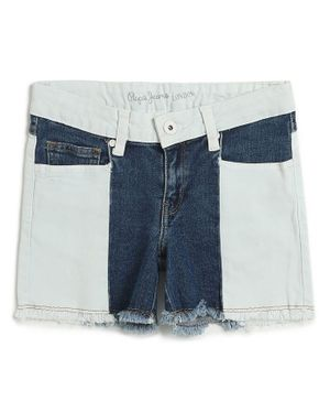 Pepe Jeans Solid Shorts - Blue