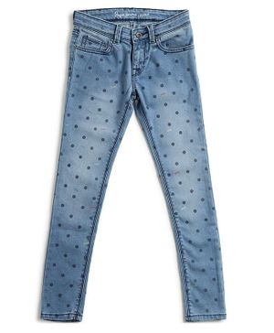 Pepe Jeans Full Length Dot Print Jeans - Blue