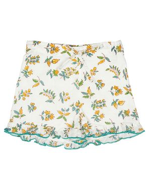 Ikeda Designs Floral Block Print Shorts - White