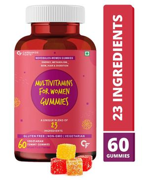 Carbamide Forte Multivitamin with Probiotics - 60 Veg Gummies                       100% RDA, Comes with 23 Ingredients like Probiotics and Minerals Supplement