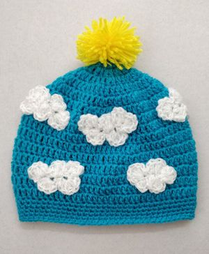 Knit Masters Cloud Design Cap - Blue
