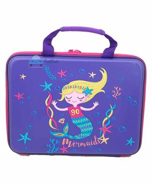 FunBlast Rectangular Multipurpose Bag Mermaid Print - Blue