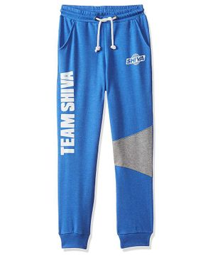 Shiva by Toothless Team Shiva Printed Full Length Joggers - Blue