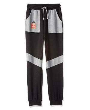 Shiva by Toothless Printed Full Length Joggers - Black