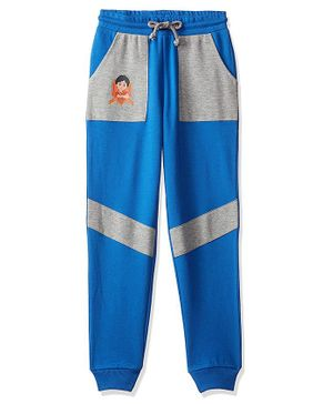 Shiva by Toothless Printed Full Length Joggers - Imperial Blue