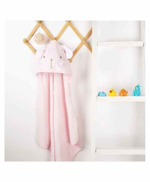 Kicks & Crawl Kitty Design Hooded Towel - Pink