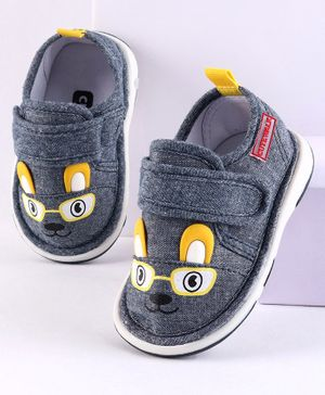 Cute Walk by Babyhug Casual Shoes Bunny Patch - Navy Blue