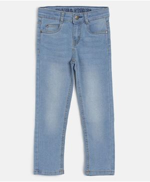 Tales & Stories Solid Slim Fit Jeans - Blue