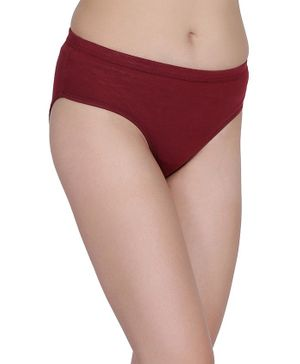 Fashiol Full Coverage Solid Comfortable Rashfree Fabric Panties - Maroon