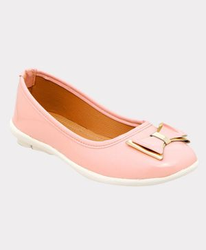 Chipbeys Bow Detailing Anti Skid Bellies - Light Pink
