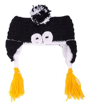 My Meo Pom Pom Ear Warmer Cap - Black