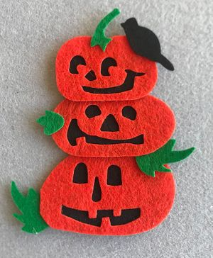 Kalacaree Halloween Theme Badge - Orange
