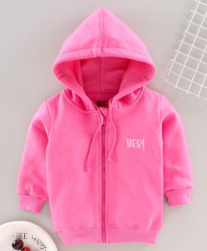 Bodycare Full Sleeves Hooded Sweat Jacket - Pink