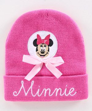 Disney Minnie Mouse Woollen Cap Pink - Diameter 44 cm