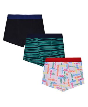 Charm n Cherish Pack Of 3 All Over Print Trunks - Multicolor