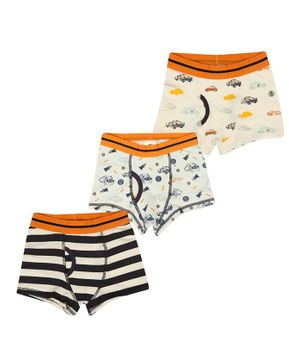 Charm n Cherish Pack Of 3 Striped Briefs - Multicolor