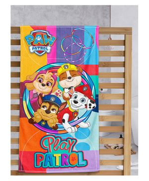Sassoon Paw Patrol Printed Bath Towel with Gift Box - Multicolor