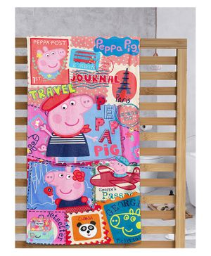Sassoon Peppa Pig Printed Bath Towel with Gift Box - Multicolor