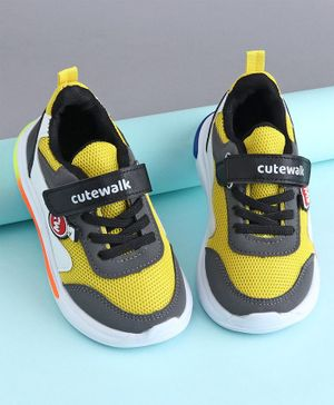 Cute Walk by Babyhug Sports Shoes - Yellow