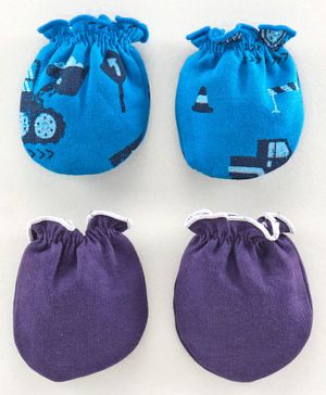 Ben Benny Winter Wear Mittens Pack of 2 - Blue Purple