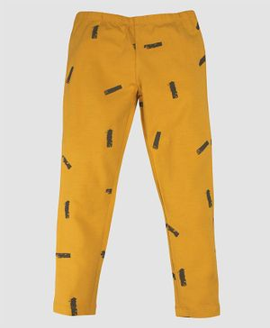Nino Bambino 100% Organic Cotton Printed Full Length Legging - Yellow