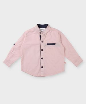 Nino Bambino 100% Organic Cotton Full Sleeve Solid Color Shirt - Pink