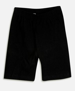 Aomi Ribbed Waisted Cycling Shorts - Black