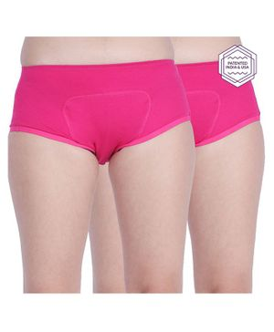 Adira Pack Of 2 Period Panties - Dark Pink