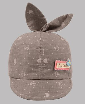 Coco Candy Heart Printed Cap - Grey