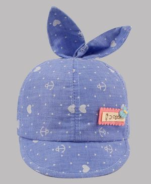 Coco Candy Heart Printed Cap - Blue