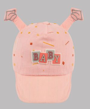 Coco Candy Printed Horn Cap - Pink