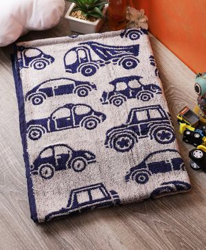 Softweave Bamboo Terry Towel Car Design - Blue