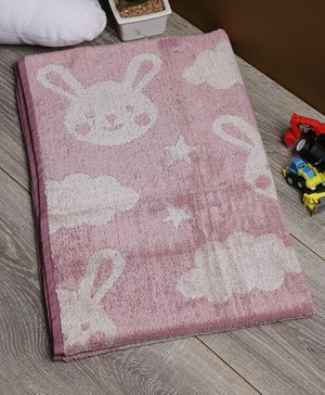 Softweave Bamboo Terry Towel Bunny & Star Embroidered Design - Lavender