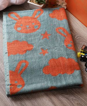 Softweave Bamboo Terry Towel Bunny & Star Design - Orange