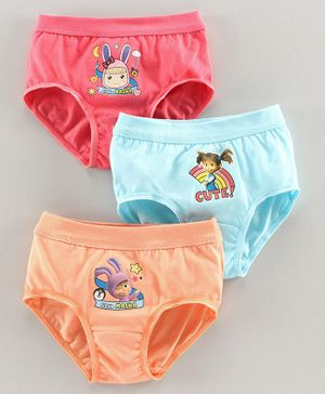 Red Rose Panties Masha & The Bear Print Pack of 3 - Pink Blue Orange