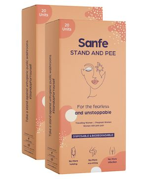 Sanfe Disposable Stand & Pee Urination Device For Women Pack of 2 - 20 Pieces Each