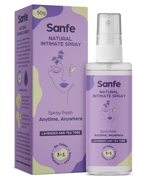 Sanfe Intimate Spray with Tea Tree and Witch Hazel - 50 grams