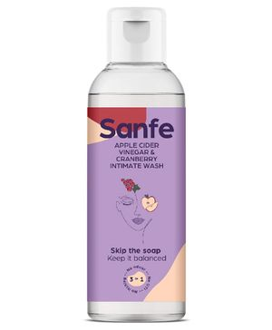 Sanfe Apple Cider Vinegar And Cranberry Mini Intimate Wash - 15 ml