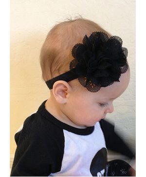 Akinos Kids  Wavy Edge Hollow Out Headband - Black