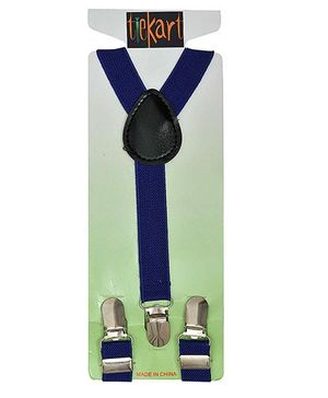 Tiekart Holding It Up Sober Belt Suspender - Blue