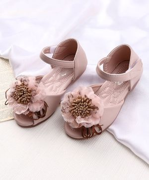 KIDLINGSS Flower Embellished Ankle Strap Sandals - Pink