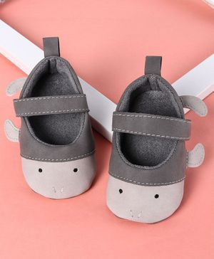 KIDLINGSS Dual Color Velcro Closure Booties - Grey