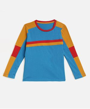 KIDSCRAFT Full Sleeves Striped T-Shirt - Blue