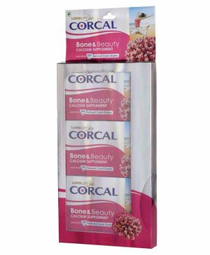 Lupin life Corcal Bone And Beauty Calcium Supplement Pack of 3 - 10 Tablets Each