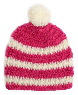 Buttercup from KnittingNani Striped Cap - Pink