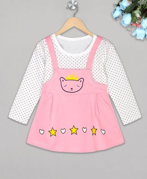 The Sandbox Clothing Co Full Sleeves Polka Dot Printed Dress - Pink