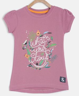 Tales & Stories Short Sleeves What's Your Story Print T-shirt - Light Pink