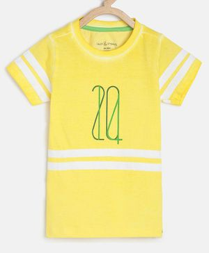 Tales & Stories Half Sleeves Striped T-Shirt - Yellow